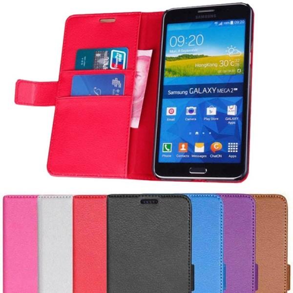 Mobilplånbok 2-kort Samsung Galaxy Mega 2 (SM-G750F) Vit