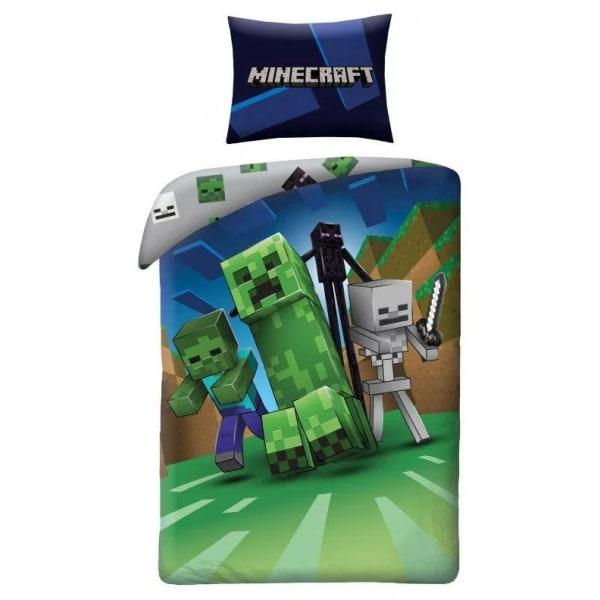 Bäddset - Påslakan Minecraft Grön