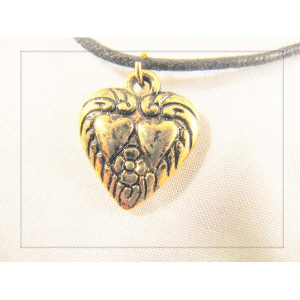 Halsband med Guldpläterat Hjärta