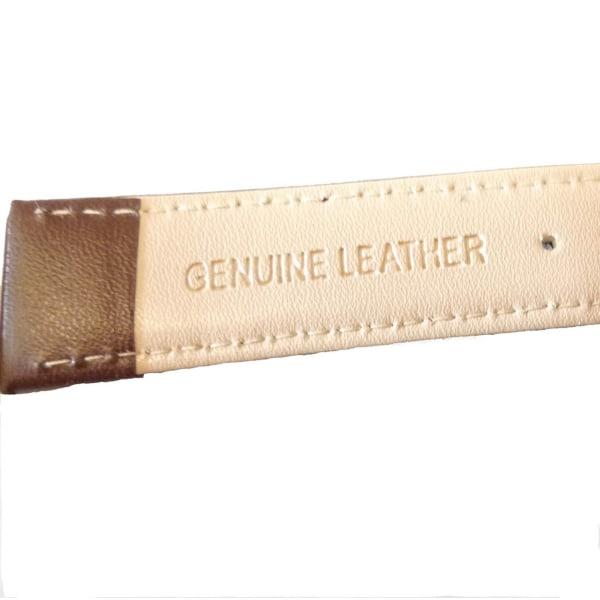 Klockarmband pu-läder Brunt 20mm