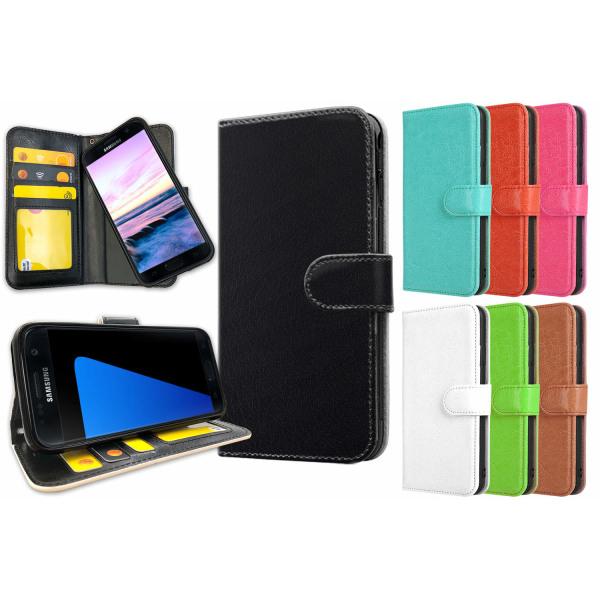 Samsung Galaxy S7 Edge - Plånboksfodral / Skal med Magnet Mörkröd