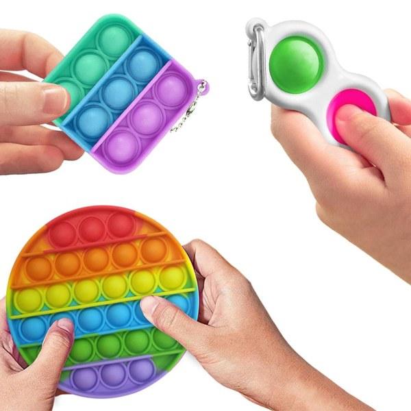 4-Pack Fidget Toys - Pop It, Simple Dimple multifärg