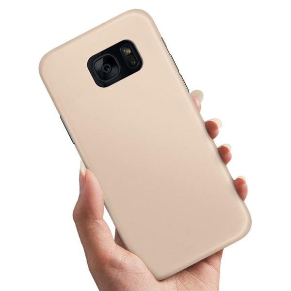 Samsung Galaxy S7 Edge - Skal / Mobilskal Beige Beige