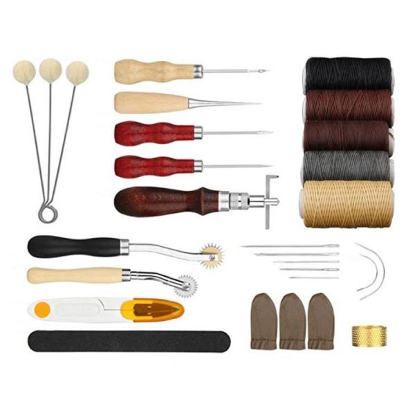 Läderverktyg Sats / Handverktyg till Läder - 28 delar
