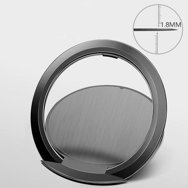2-Pack - Tunn Mobilring 1,8mm / Mobilhållare / Ringhållare Mobil Svart