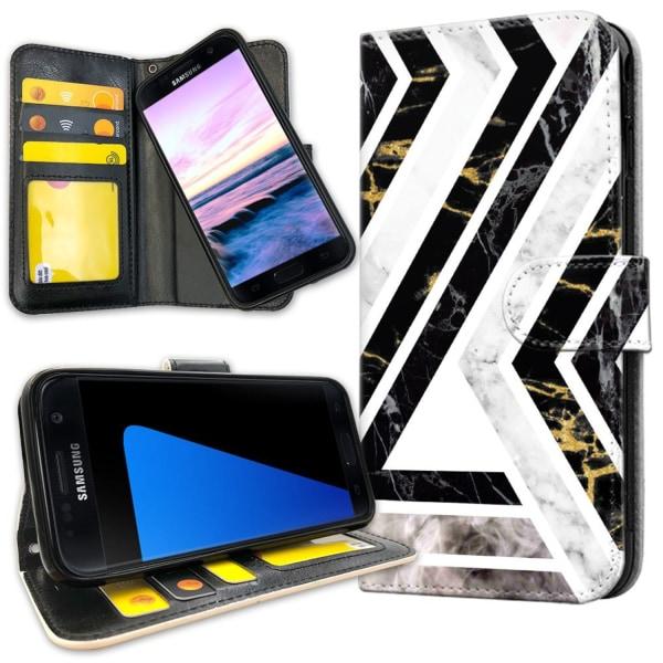 Samsung Galaxy S7 - Plånboksfodral Krokigt Mönster