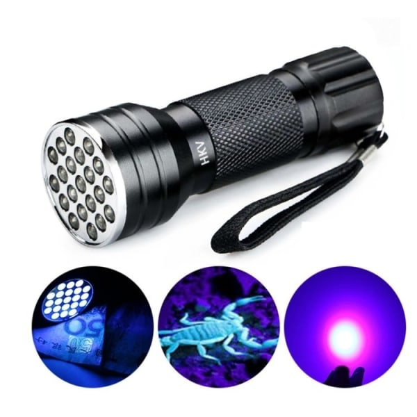 UV-lampa / Blacklight Ficklampa - Sedeldetektor