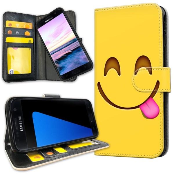 Samsung Galaxy S7 - Plånboksfodral Emoji / Smiley