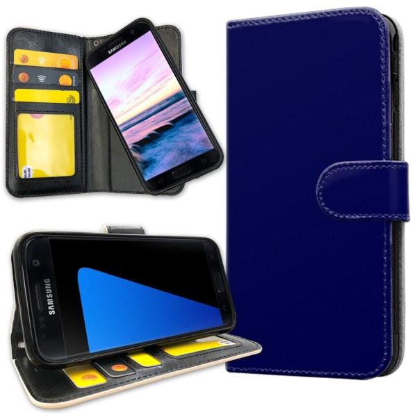 Samsung Galaxy S7 - Plånboksfodral Mörkblå Mörkblå