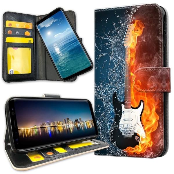 Xiaomi Mi 9 - Plånboksfodral Vatten och Eld Gitarr