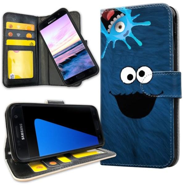 Samsung Galaxy S7 - Plånboksfodral Cookie Monster