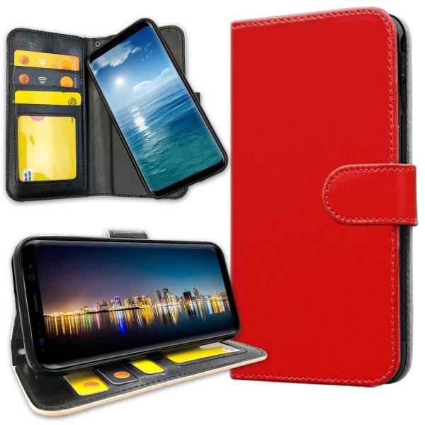 Samsung Galaxy J4 Plus - Plånboksfodral Röd Röd
