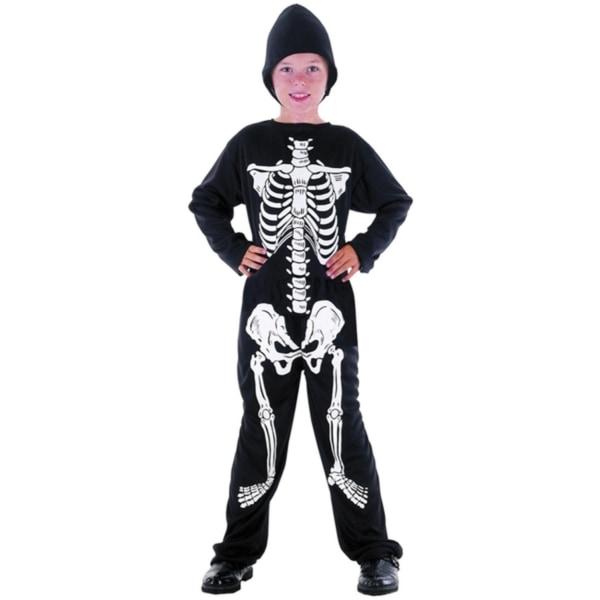 Skelett Barn Maskeraddräkt 110-116 cm - Halloween & Maskerad