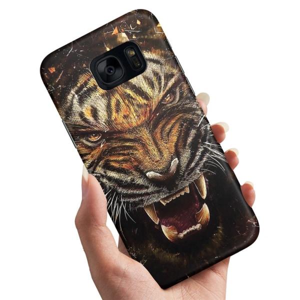 Samsung Galaxy S7 - Skal / Mobilskal Rytande Tiger
