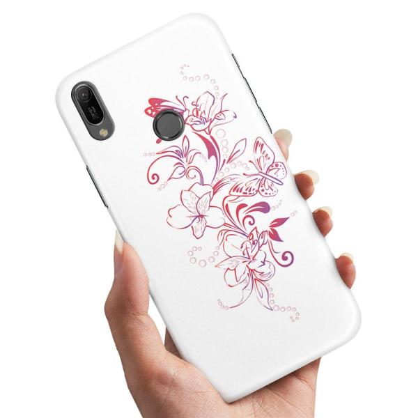 Xiaomi Mi A2 Lite - Skal / Mobilskal Blommor & Fjärilar