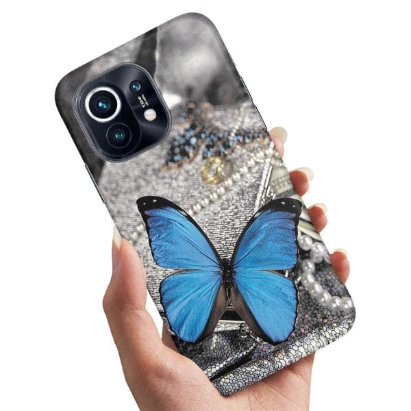 Xiaomi Mi 11 - Skal / Mobilskal Blå Fjäril