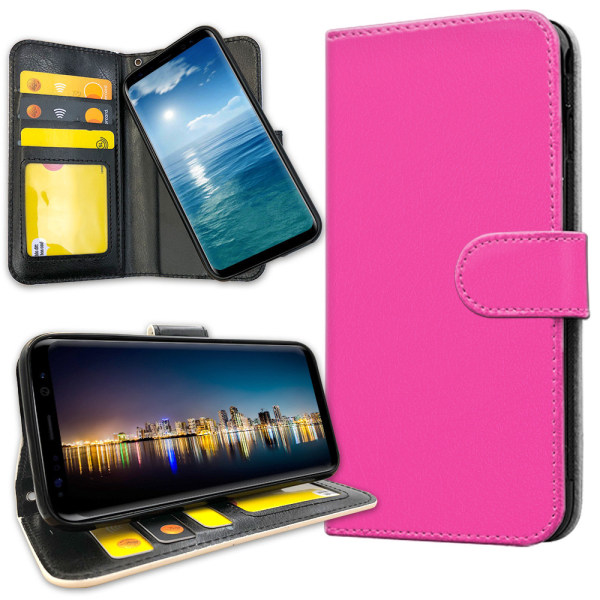 Samsung Galaxy J4 Plus - Plånboksfodral Magenta Rosa
