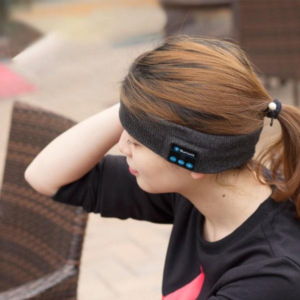 Sovhörlurar - Bluetooth Pannband med Mikrofon Mörkgrå