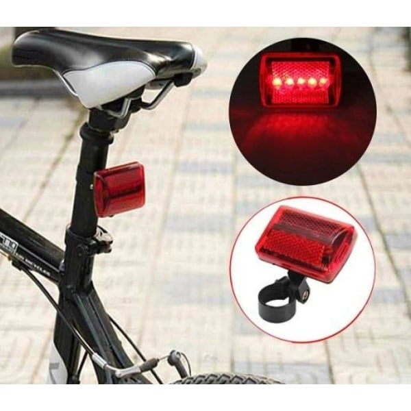 Baklykta / LED-lampa till Cykel - Cykellampa Röd