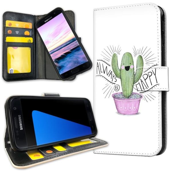 Samsung Galaxy S7 - Plånboksfodral Happy Cactus