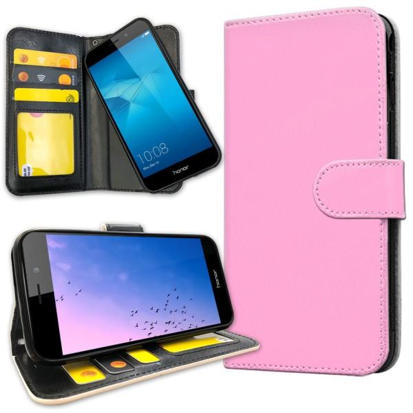 Huawei Honor 7 - Plånboksfodral Ljusrosa Ljusrosa