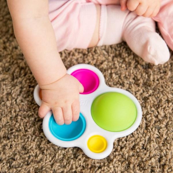2-Pack - Simple Dimple Pop It Fidget Toys - Leksak / Sensory multifärg