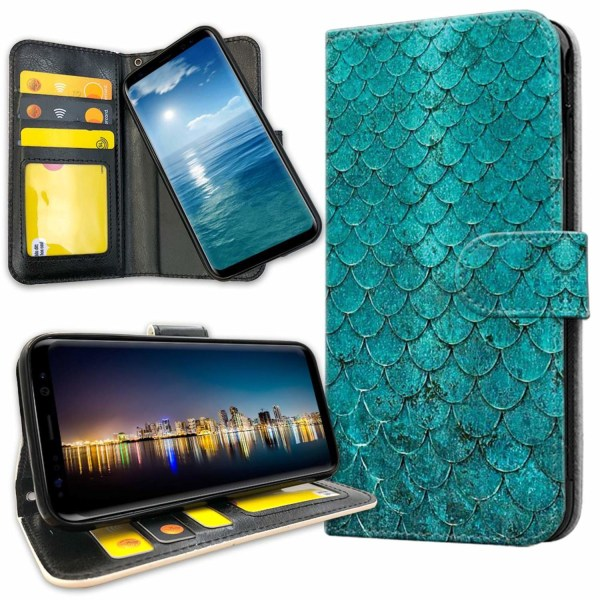 Samsung Galaxy S8 Plus - Plånboksfodral Kronbland Mönster