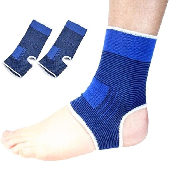 Ankelstöd / Fotstöd - Elastiskt stöd för fotled - 1 Par Blå