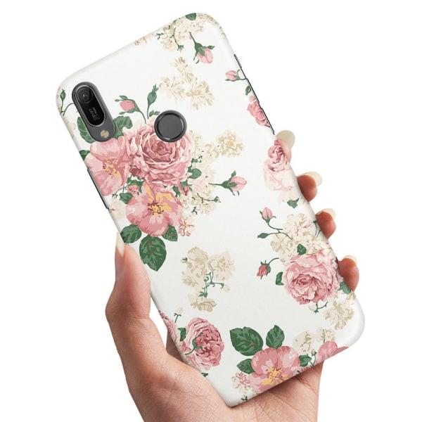 Huawei P20 Lite - Skal / Mobilskal Retro Blommor