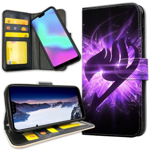 Huawei Honor 10 - Plånboksfodral Lila Fairy Tail purple