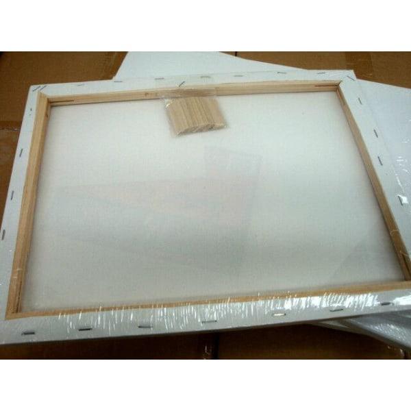 5-Pack - Tavla / Canvastavla - Målarduk - 15x15 cm - Canvas Vit
