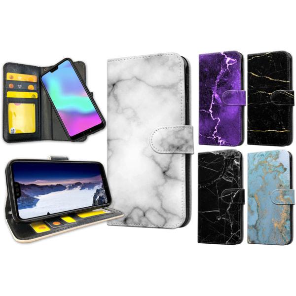 Huawei Honor 10 - Marmor Plånboksfodral / Skal 23