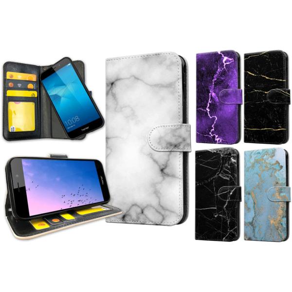 Huawei Honor 7 - Marmor Plånboksfodral / Skal 8
