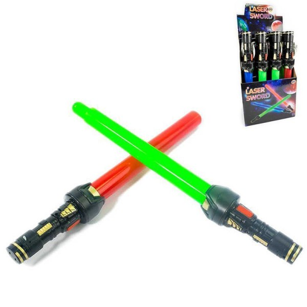 Lasersvärd / Lysande Svärd / Lightsaber - Teleskopisk Blå