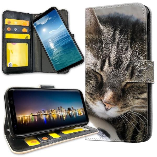 Samsung Galaxy A10 - Plånboksfodral Sovande Katt