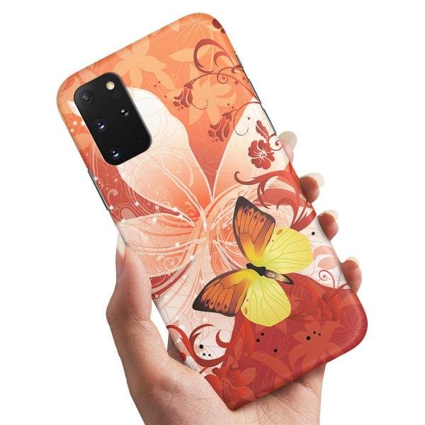 Samsung Galaxy A71 - Skal / Mobilskal Fjäril & Blomma