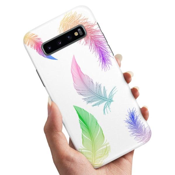 Samsung Galaxy S10 - Skal / Mobilskal Fjädrar