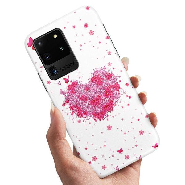 Samsung Galaxy S20 Ultra - Skal / Mobilskal Blomhjärta
