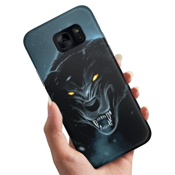 Samsung Galaxy S6 Edge - Skal / Mobilskal Black Wolf