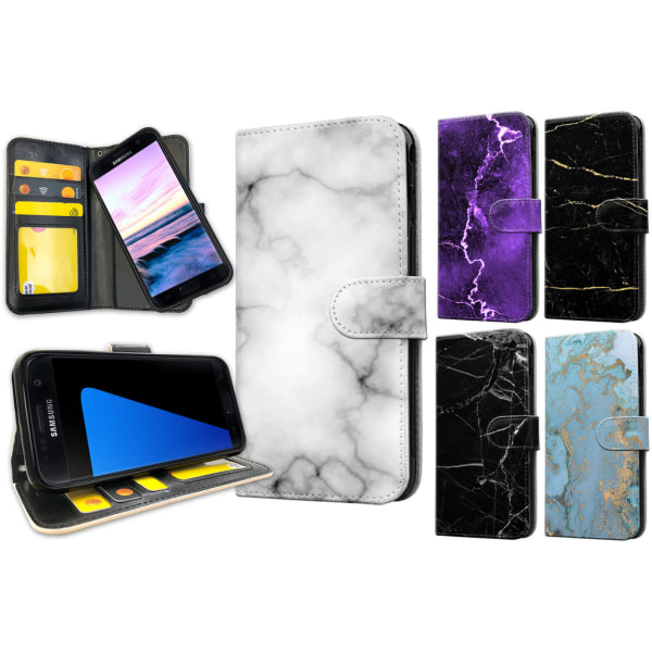 Samsung Galaxy S7 Edge - Marmor Plånboksfodral / Skal 36