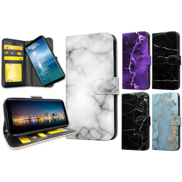 Samsung Galaxy S8 - Marmor Plånboksfodral / Skal 16