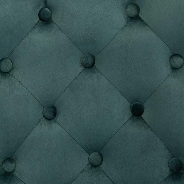 Matstolar 6 st mörkgrön sammet