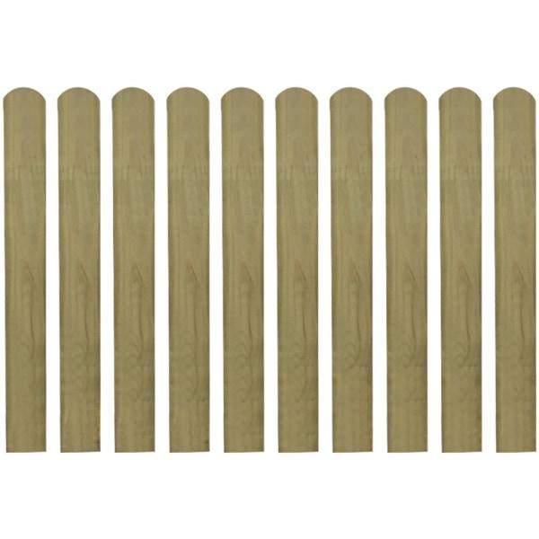 Impregnerade staketribbor 10 st trä 80 cm