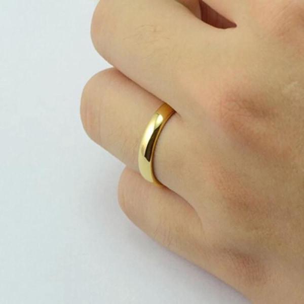 Slät Blank Guld Ring - Vacker & Stilren Design - Stl 20,5 Guld