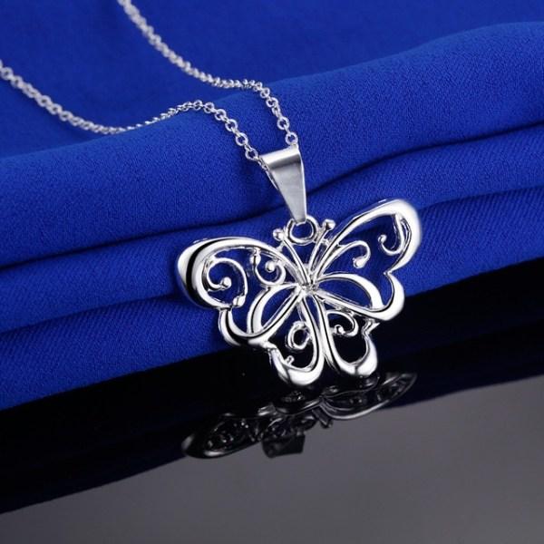 Silver Smyckesset - Halsband & Örhängen - Fjäril / Butterfly Silver