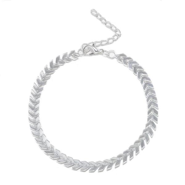 Fotsmycke Fotlänk Ankellänk Vristlänk Fotkedja - Silver Kedja  Silver