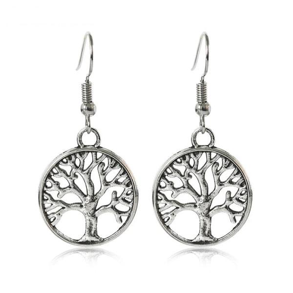 Antik Silver Örhängen - Livets Träd - Symbol för Livet Silver