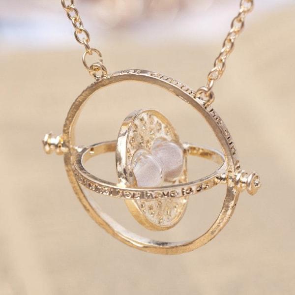 Harry Potter Guld Halsband - Hermiones Time Turner - Grå Sand Guld