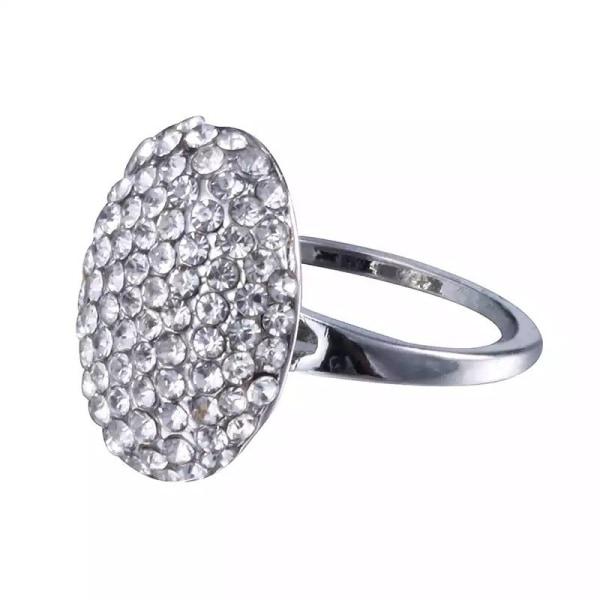 Silver Ring - Twilight Saga / Bella / Vita Rhinestones -Stl 18,9 Silver