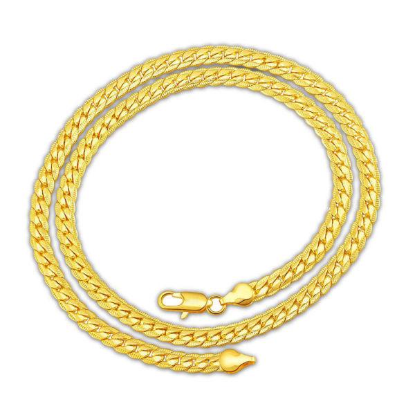 Elegant Guld Halsband - Lyxig & Vacker Design på Länk / Kedja Guld